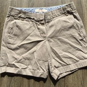 J. CREW 100% Cotton Chino Broken in Shorts Women's